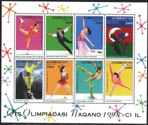 Azerbaijan. 1998. Small sheet 406-13. Nagano Winter Olympics. MNH.