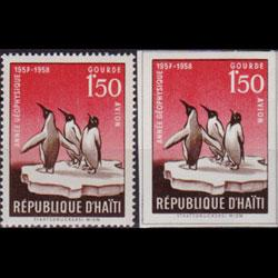 HAITI 1958 - Scott# C120-A Penguins 1.5g NH