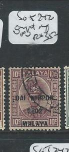 MALAYA JAPANESE OCCUPATION PAHANG(P2307B)10C DN SG J242 FANTASTIC OVPT SHIFT VFU