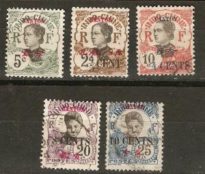 France Off China Canton 5 Diff U/M F/VF 1908-15 SCV $7.45