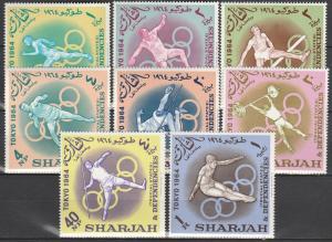 Sharjah #49-56  MNH CV $6.30  (S6972L)