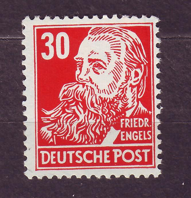 J14668 JLstamps 1953 germany DDR mnh #130 engels wmk 297