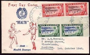 NEW ZEALAND 1948 Health commem FDC.........................................30783