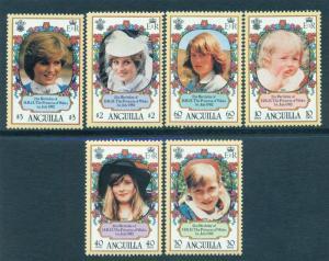ANGUILLA SC# 485-90 F-VF MNH 1982