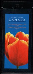 Canada Sc 1946 2002 48 c Tulips stamp booklet mint NH