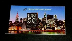 [SOLD] U.N. VIENNA #192, 1995, 50th ANNIVERSARY  MNH, PRESTIGE BOOKLET, LQQK!