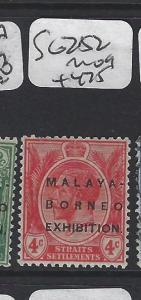 MALAYA  STRAITS SETTLEMENTS  (PP1905B)  KGV MBE  4C   SG 252     MOG