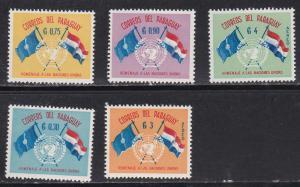 Paraguay # 569-571, C272-273, UN 15th Anniversary, Mint NH