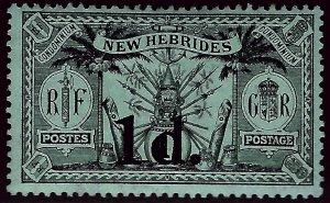 British New Hebrides Attractive SC#27 Mint F-VF.SCV$3...Grab a Bargain!