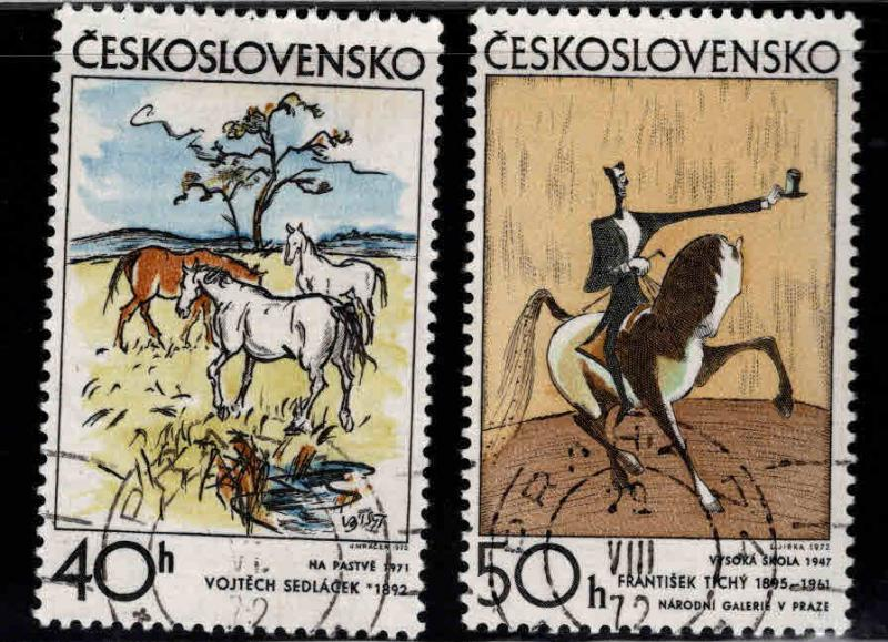 Czechoslovakia Scott 1806-1807 Used CTO stamps