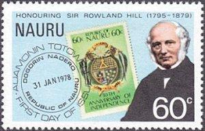 Nauru # 197 mnh ~ 60¢ Rowland Hill and Stamp