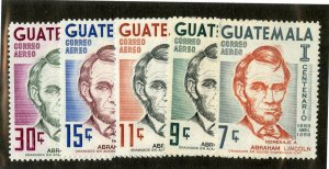GUATEMALA C371-5 MNH SCV $3.60 BIN $1.80