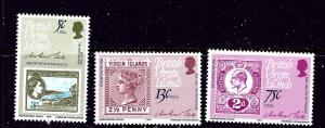 Virgin Is 360-62 MNH 1979 Sir Rowland Hill