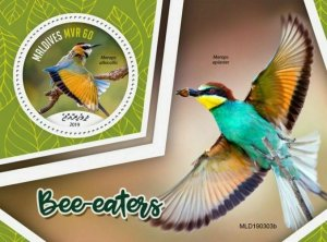 Z08 MLD190303b MALDIVES 2019 Bee-eaters MNH ** Postfrisch