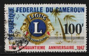 Cameroon 1967 50th Anniversary of Lions club International 100F (1/2) USED