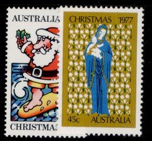 AUSTRALIA QEII SG655-656, 1977 Christmas set, NH MINT.