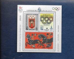 URUGUAY 1980 Olympics m/sheet u/mint