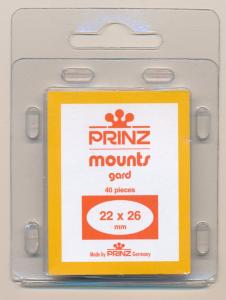 Prinz Scott Stamp Mount Size 22/26mm - CLEAR (Pack of 40) (22x26  22mm) PRECUT