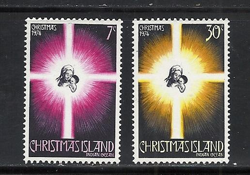 Christmas Island #61-2 comp mnh Scott cv $2.15 Christmas