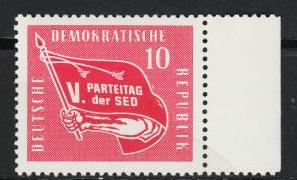 East Germany - 1958 5th Congress Sc# 393 - MNH (2856)