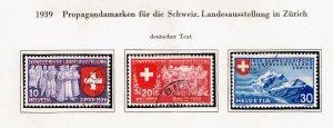 Switzerland Stamp 1939 National Philatelic Exhibition - German Inscription SET