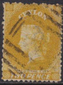 Ceylon 1863 SC 49 Used