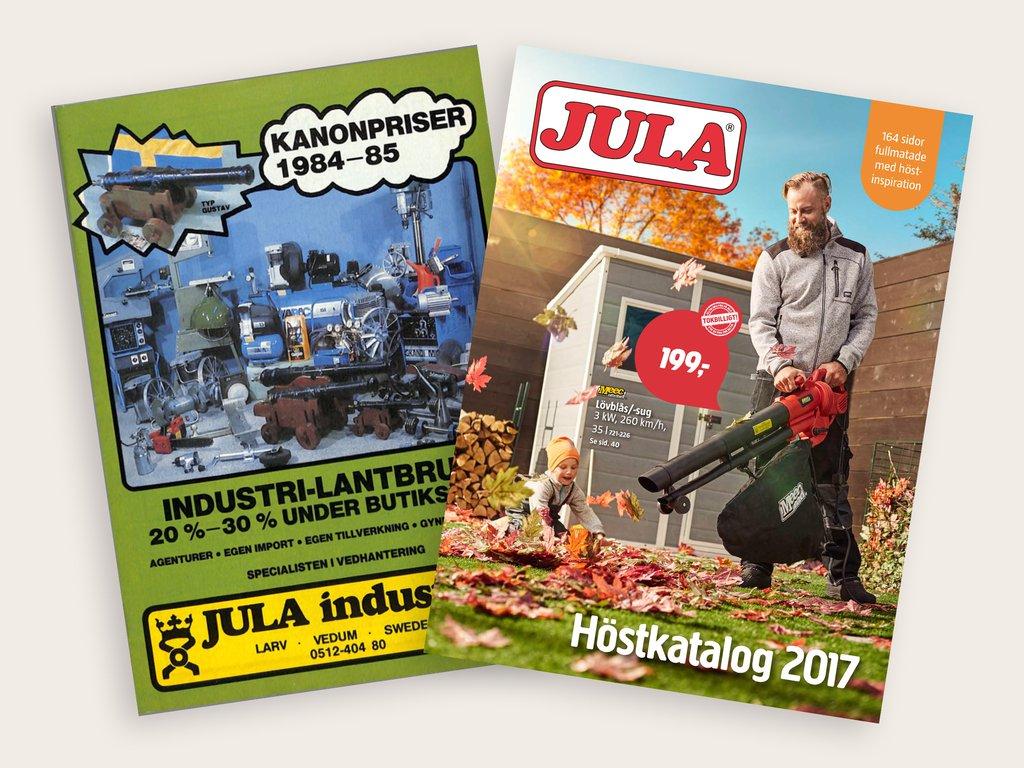 Jula två kataloger från 1984 och 2017