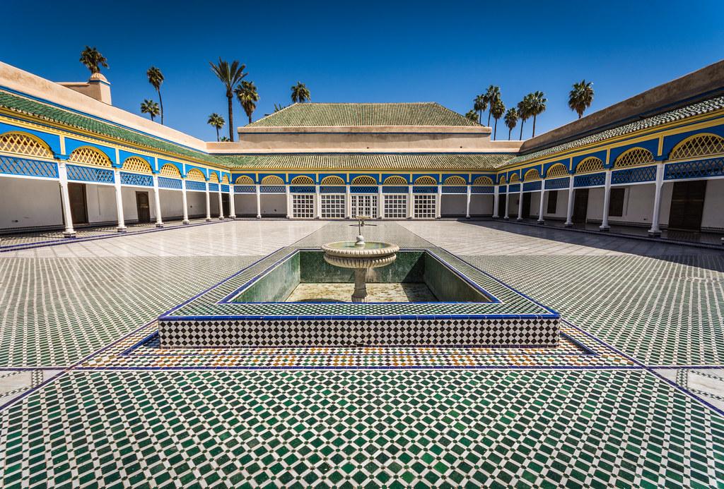 Zellige mosaic In Bahia Palace Marrakech