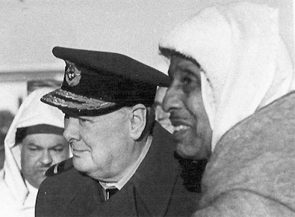 El Glaoui and  Winston Churchill