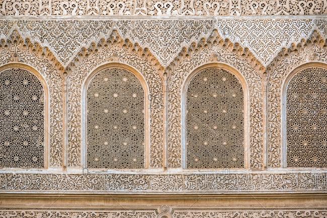 Gypsum In Madrasa Ben Youssef
