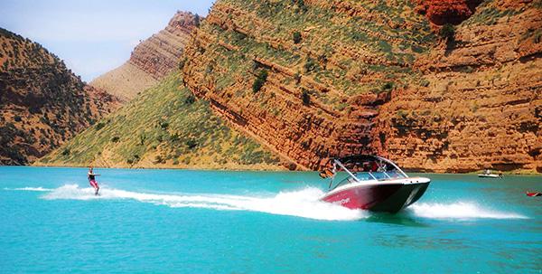 Boat In Bin El Ouidane Lake
