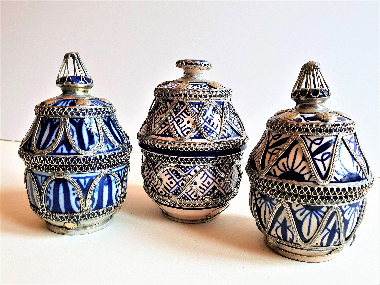 Decorative Moroccan pottery