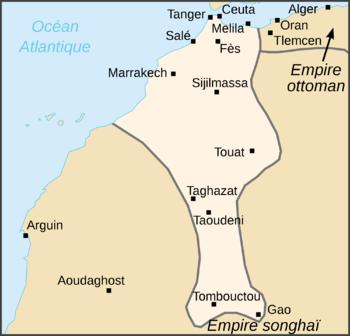 Saadian Empire Map