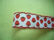 進口薄織帶 緞帶 滾邊甜美草莓 D款