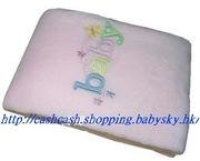 外貿抱毯包被Blanket-彩字Baby-Girl款