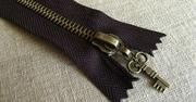 拼布手作配件 拉鏈連拉鏈頭 復古小鎖匙 20cm可用長度16cm