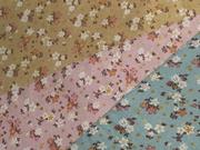 拼布手作布料 出口日本棉麻 日味懷舊小花柄