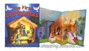 兒童圖書 立體英文故事書 - 聖誕故事 Pop-up Book - The First Christmas  3y+