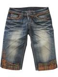 10858 - 全新 - Jedn Mani深藍格仔邊牛仔短褲