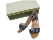 10883 - Handmade 黑花木屐涼鞋