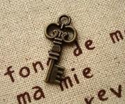 拼布手作配件 拉鏈頭 手機繩裝飾 古董小鎖匙