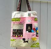 日本黑貓 PUSH PIN 帆布袋 粉紅色