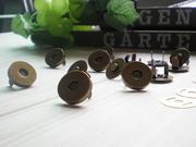 拼布手作配件 普通形兩腳磁扣 18MM 直徑  古銅