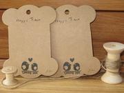 優質雙層加壓牛皮紙 正版韓國進口 可愛繞線板 花邊布標的安樂窩 相依小鳥