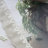 拼布手作花邊 韓單棉麻花邊系列 刺繡縷空溫婉的她