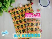 日本 cram cream 尼龍布索袋 索繩袋 中號 黃底黑貓款 兒童嬰兒bb用品