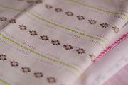 拼布手作片裝布料 日本進口棉布 色織緹花條子布