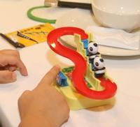 童年回憶玩具手動循環熊貓排隊上樓梯玩滑梯 小肌肉手眼協調訓練遊戲 2y+ 3y+ 4y+ 親子