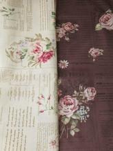 拼布手作布料 日本進口棉布 玫瑰花報 2色