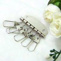 拼布手作輔料 製作匙包必備 6扣亮銀色匙排